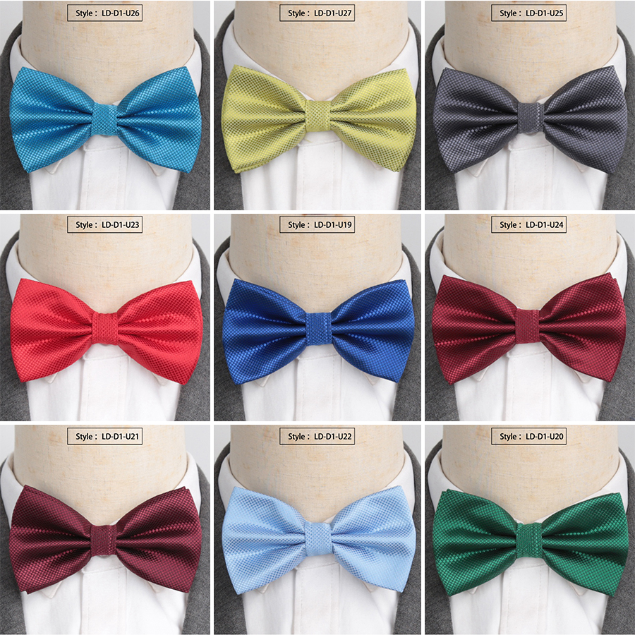 Men Ties Fashionable Butterfly Party Business Wedding Bow Tie Candy Solid Color Female Male Bowknot Accessories Bowtie