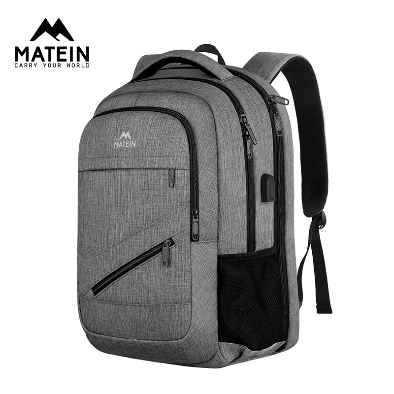 Matein TSA Large Travel Backpack For Women Men 17.3inch Laptop Backpack School Carry On Backpack With USB Charger Port