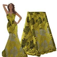Ourwin telas de encaje nigerianas, lo último en cordones africanos, tela de encaje francés de calidad, color lila, púrpura, estilo Aso Ebi, tela de boda, 2020