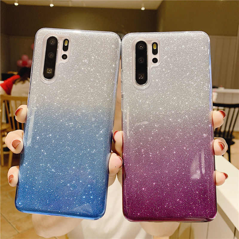 Glitter Soft Tpu Case Voor Samsung Galaxy S20 S10 S9 S8 Plus S7Edge Bling Cover Op Samsung J6 J4 Note 10 8 9 Plus M10 M20 M30 M40