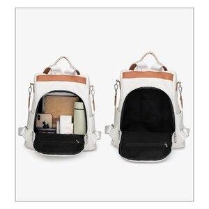 Image 5 - 2020 yeni marka tasarımcısı deri bayan sırt çantası vahşi kalite anti hırsızlık çanta bayanlar genç bayanlar seyahat çantası lüks sırt çantası mochil