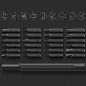 Image 4 - الأصلي  Xiaomi Mijia Wiha الاستخدام اليومي طقم مفكات 24 بت المغناطيسي الدقة AL صندوق برغي سائق شاومي المنزل الذكي مجموعة 2018