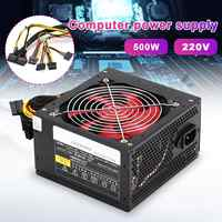 Quiet 500W Desktop BTC Miner Power Supply With SATA 20PIN+4PIN Power Supply ATX Power Switching For Miner Mining