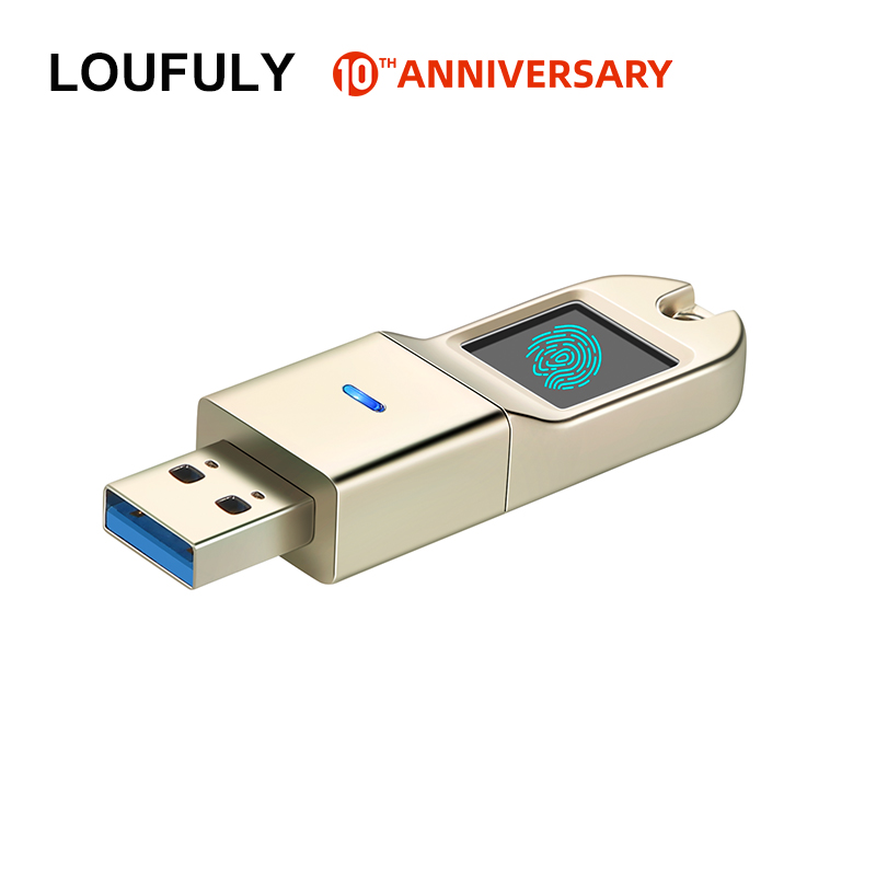 Encrypted Fingerprint Encrypted Flash Drive USB 3.0 16GB 32GB 64GB 128GB Password Key Secure Encrypted Flash Memory For Business