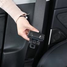 Seat belt trim for Tesla model 3 accessories car accessories tesla model y model 3 tesla three tesla model 3 carbon accessoires cheap NoEnName_Null Door Interior Carbon Fiber Double tape side