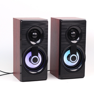 Image 3 - Music Speakers USB Wired Mini Computer Speakers Bass Stereo Wooden PC  Home Speaker 3.5mm AUX For Laptop Desktop Smart Phones