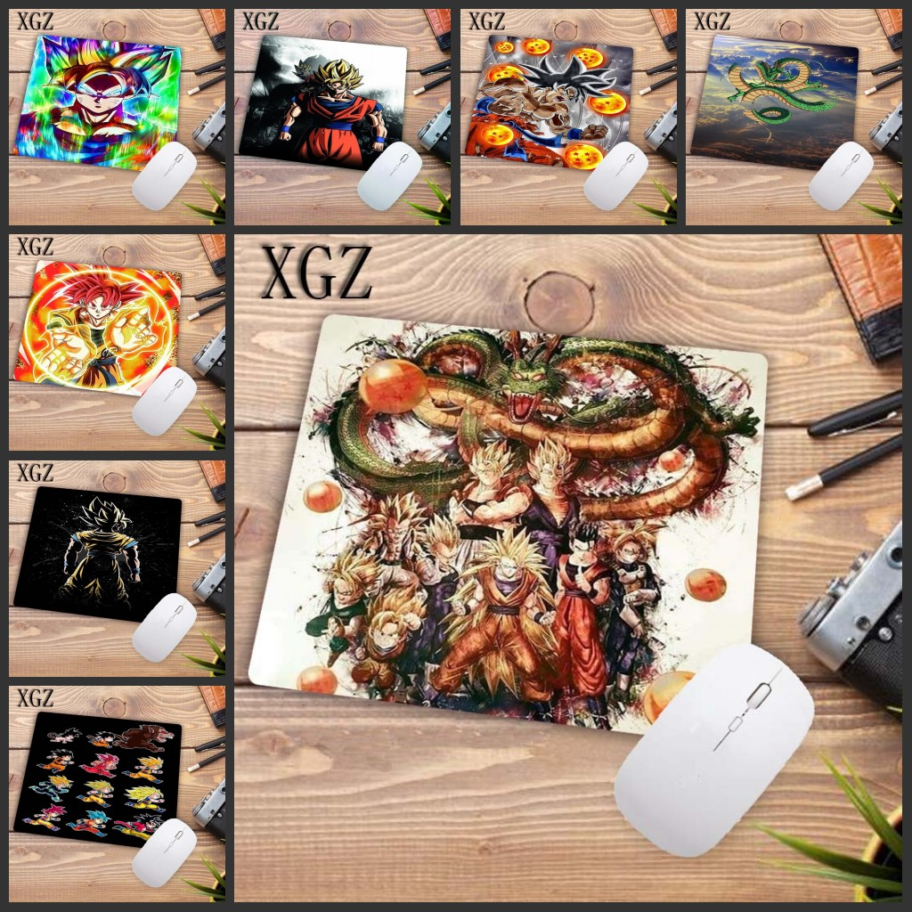 XGZ Big Promotion Dragon Ball Z Japan  Animation Rubber Non-slip Laptop Gaming  Keyboard Mouse Pad For CS GO Dota LOL 22X18CM