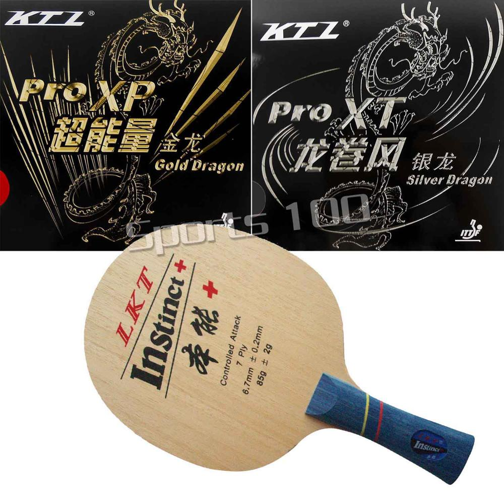 Pro Combo Racket KTL Instinct+ With Gold Dragon And Silver Dragon Rubbers