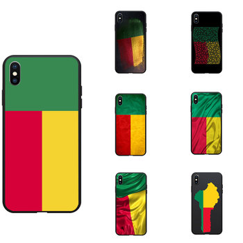 Benin National Flag Coat Of Arms Theme Soft TPU Phone Cases Cover Image Logo For iPhone 6 7 8 S XR X Plus 11 Pro Max image