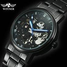 WINNER Official Military Automatic Watch Men Skeleton Mechan