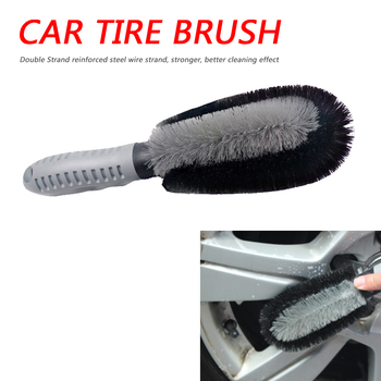 Car Wheel Wash Brush Plastic Handle Vehicle Cleaning Brush Wheel Rims Tire Washing Brush Auto Scrub Brush Car Wash Tools image