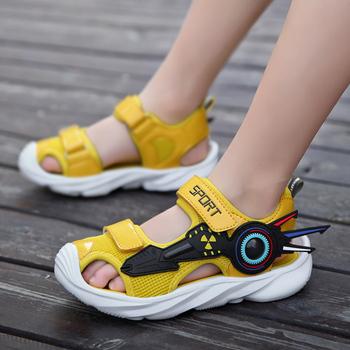 Nowe sandały dla dzieci w lecie 2021 modne sandały dziecięce chłopcy sandały na płaskim obcasie maluch chłopiec buty maluch sandały dziewczyna buty tanie i dobre opinie Prowow W wieku 0-6m 7-12m CN (pochodzenie) Lato Skóra drukowana Płaskie obcasy Hook loop Dobrze pasuje do rozmiaru wybierz swój normalny rozmiar
