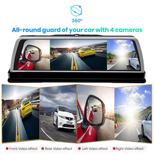 Image 5 - WHEXUNE 4G Android voiture DVR Dash cam 4 lentille 10 pouces Navigation ADAS GPS WiFi Full HD 1080P enregistreur vidéo 2GB + 32GB véhicule caméra