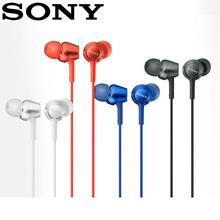 цена на Original SONY MDR-EX250AP In-Ear Headphones 3.5mm Wired Earbuds Music Earphone Smart Phone Headset Hands-free with Mic