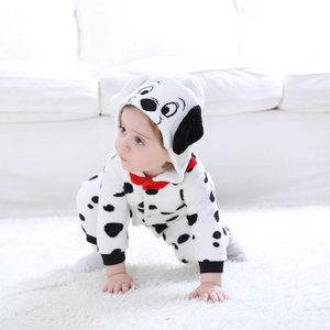Image 3 - Umorden Baby Dalmatians Spotty Dog Costume Kigurumi Cartoon Animal Rompers Infant Toddler Jumpsuit Flannel Halloween Fancy Dress