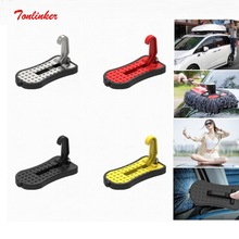 Tonlinker 4 in 1Multifunction Car Folding Step Ladder Auxiliary Car Easy To The Roof Access Foot Pedal With Safety Hammer Parts