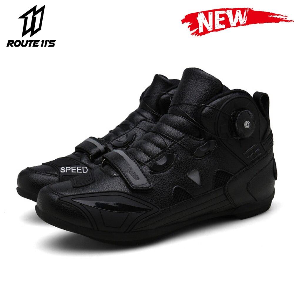 Nowe buty motocyklowe motocyklowe buty wyścigowe męskie oddychające Botas obuwie na motor motocykl Biker buty jeździeckie na świeżym powietrzu buty do podróży