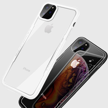 Shockproof Armor Case For iPhone 11 Pro MAX X XS XR Soft TPU Silicone Bumper PC Acrylic Cover For iPhone 8 7 6 Plus Clear Case цена