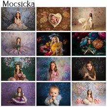 Photography Floarl Hand Painted Texture Backdrop Newborn Kid Children Birthday Portrait Background Photo Studio Baby Shower Prop