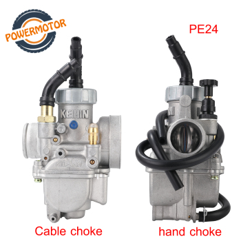Carburador de mano PE24 24mm de alta calidad, Cable choke para Keihin Dax KSR MSX Grom CRF Monkey Xsport ATV Pitbike