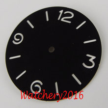 Nowy 38.5mm czarny zegarek Dial Luminous markery Fit 6497 6498 ruch(China)