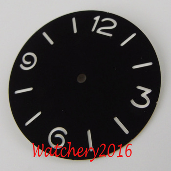 New 38.5mm black dial luminous markers fit 6497 6498 movement Men's Watch dial new 45mm polished stainless steel case high quality hardened mineral glass fit 6497 6498 st 36 molnija movement watch case