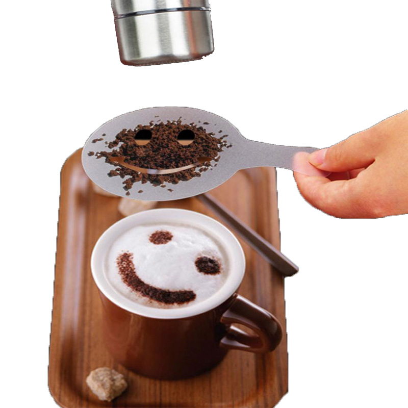 New 16pcs Plastic Fancy Coffee Printing Model Cake Coffee DIY Decoration Mold Fondant Pattern Printing Stencils