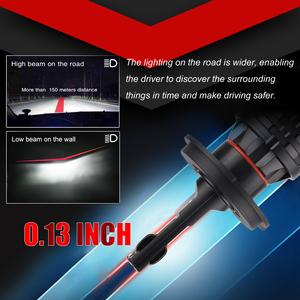 Image 5 - Braveway H4 led車の電球H4 H7 H8 H3 H11 H1 9005 9006 HB3 HB4 led用ランプターボ球根12 12v canバス
