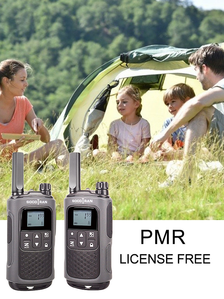Walky Ham Radio PMR Privacy-Code License-Free PMR446 Rechargeable T80 with VOX Long-Distance