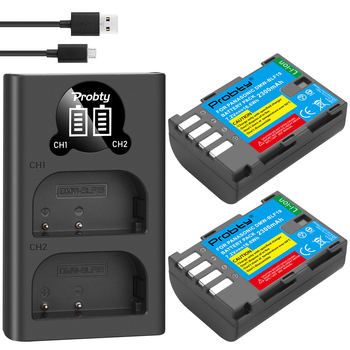 2 uds 2300mAh DMW-BLF19 DMW BLF19 BLF19E DMW-BLF19e DMW-BLF19PP batería + LED Dual USB cargador para Panasonic Lumix GH3 GH4 GH5 G9