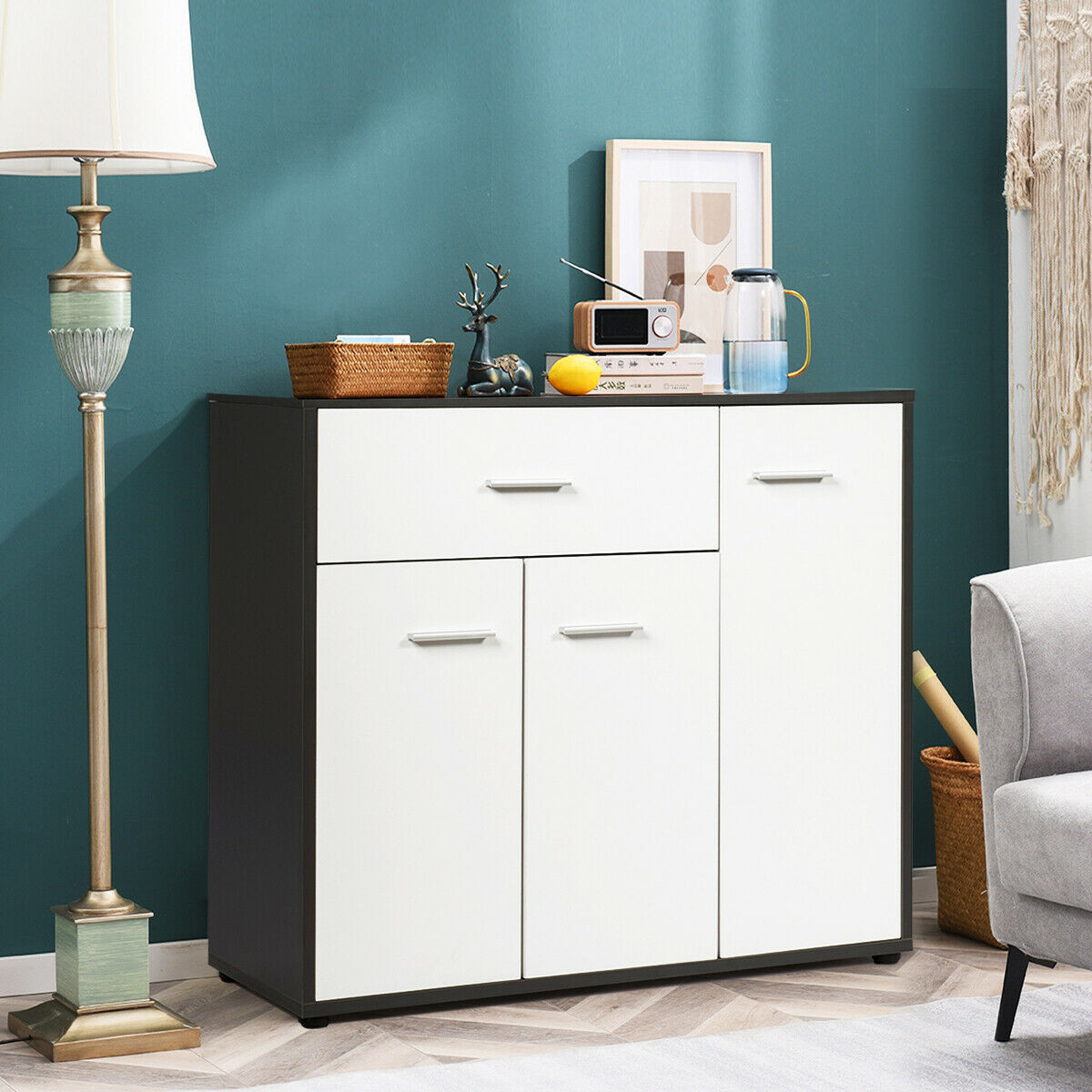 Buffet Sideboard Storing Cabinet Table Unit Chipboard Solid Structure Sideboard Large Storage Dining Room Cabinets Sideboards Aliexpress