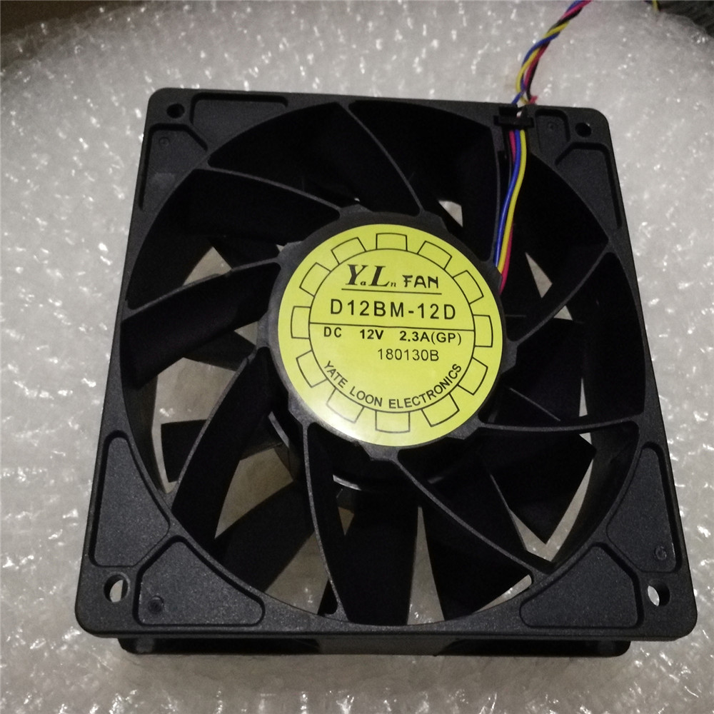 ​Replacement Cooling Fan Cooler For <font><b>Antminer</b></font> <font><b>Bitmain</b></font> <font><b>S7</b></font> S9 D12BM-12D 12V 2.3A Large Air Volume Cooling Fan Cooler image