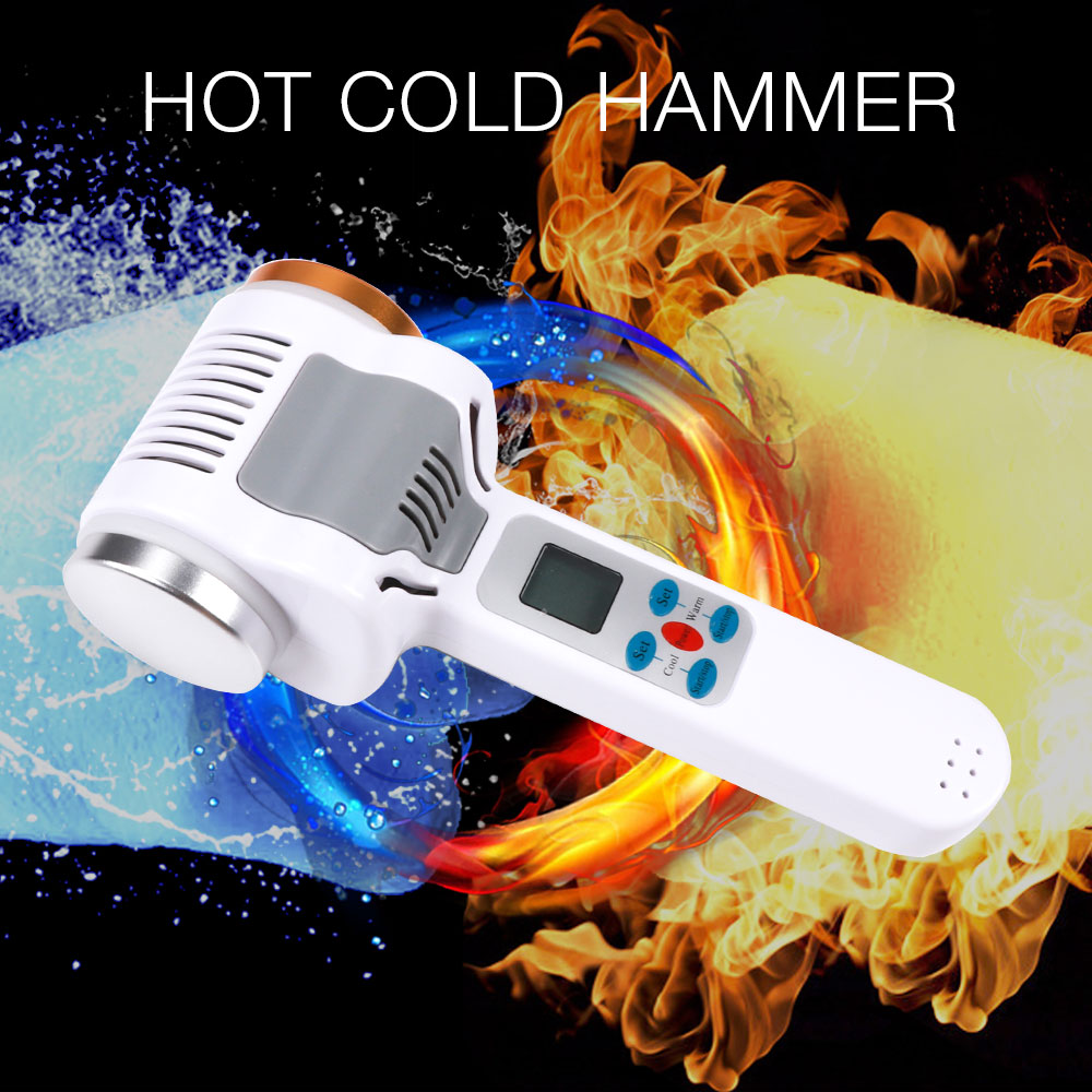 Ultrasound Hot Cold Hammer Cryotherapy Warm Ice Heating Facial Skin Lifting Tighten Face Rejuvenation Ultrasonic Cryother