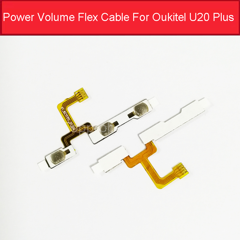Power Switch On/off Volume Up Down Flex Cable For Oukitel U20 Plus Power Volume Button Key Flex  Ribbon Replacement Parts