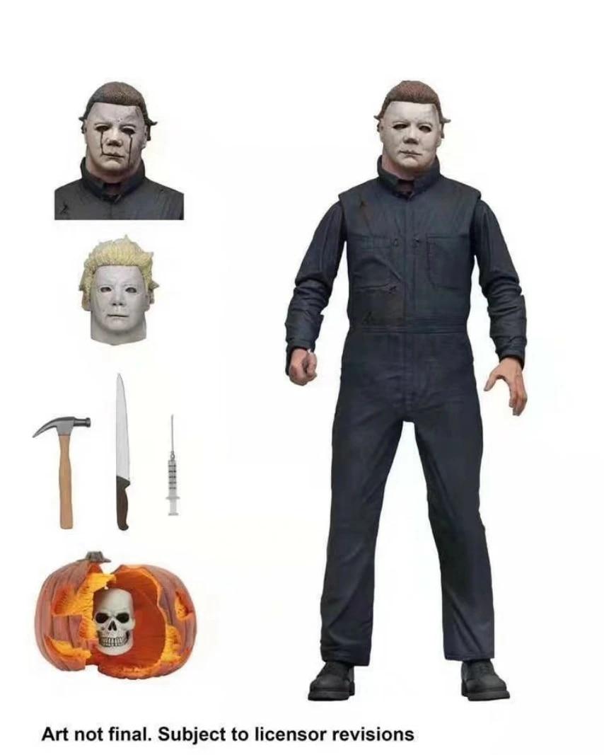 Neca Halloween 2 Ultimate Michael Myers Aksi Figur Sendi Bergerak Model Mainan 18cm Aksi Figur Aliexpress