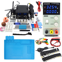 800W 2 In 1 digital Soldering Station Welding Solder Iron 220v and Adjustable DC power supply 32V 10A of Professional Repair