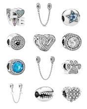Novo inverno bloqueio chave estrelas borboleta corrente de segurança talão caber pandora encantos originais prata cor pulseira jóias para mulher