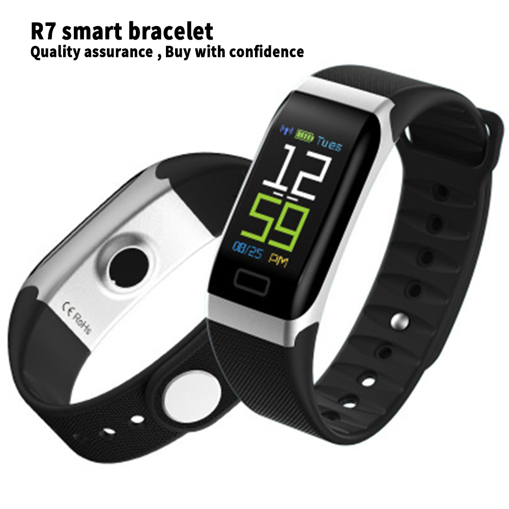 <font><b>R7</b></font> <font><b>Smart</b></font> Bracelet Wrist Band <font><b>Watch</b></font> Fitness Tracker Heart Rate Health Monitor USB Charging Blood Pressure Long Battery image