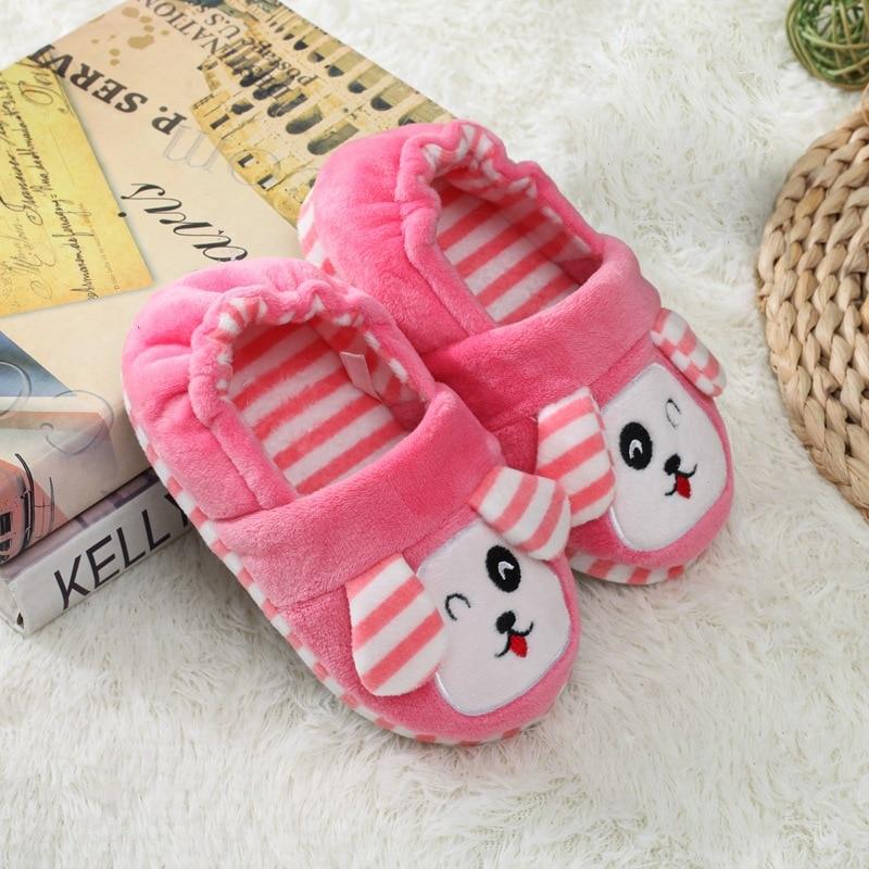 Hf9646597528040c28fb37f76f0ac308aD Pantufa infantil de pelúcia para meninos e meninas, sapatos quentes de algodão para crianças, chinelos fofos e confortáveis de animais do inverno 2019