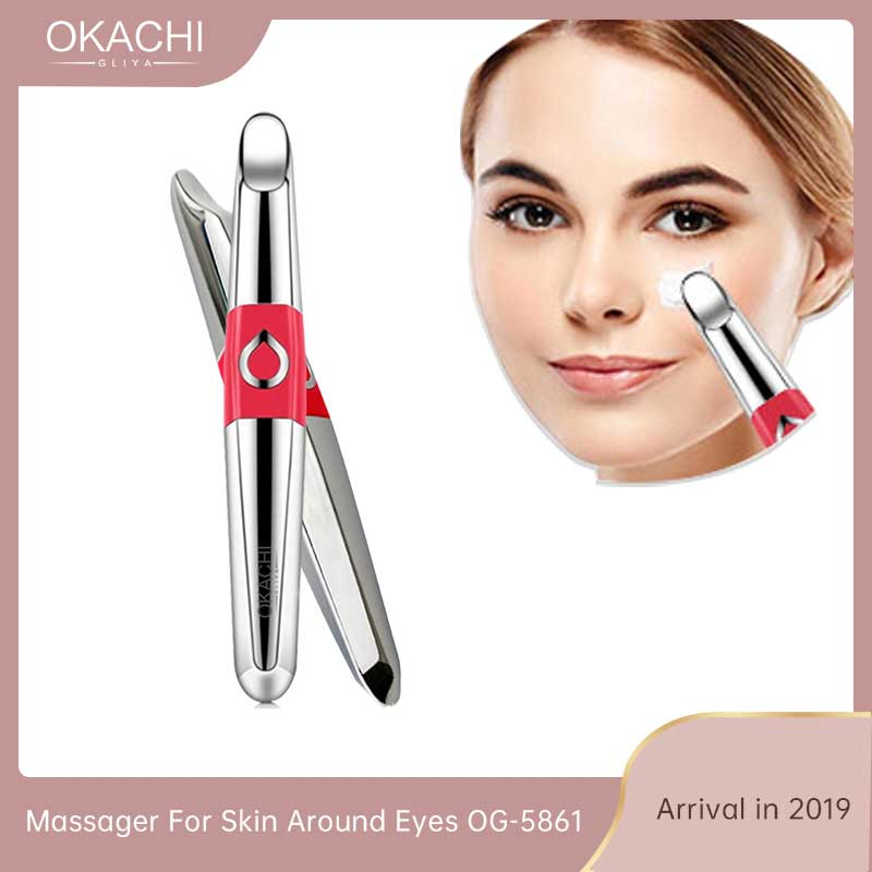 Handheld Mini Eye Massage Device Pen Type Electric Facial High Frequency Vibration Beauty SPA Eyes   Massage Rollers & Pens