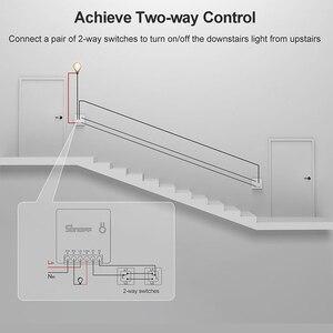 Image 2 - Sonoff básico/mini wifi em dois sentidos interruptor inteligente pequeno aplicativo/lan/voz/controle remoto diy suporte um interruptor externo do google casa alexa