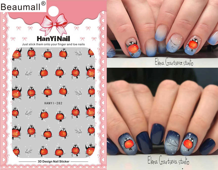Cartoon Patterns Nails Art Manicure Back Glue Decal Decorations Design Nail Sticker For Nails Tips Beauty Aliexpress