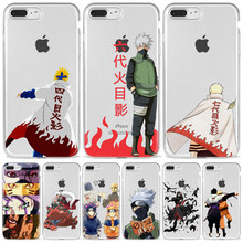Mode Relief Anime Naruto Uzumaki Sasuke kakashi Fall Abdeckung Weichen Cartoon Telefon Fall Für iPhone 5 6 7 8 Plus XS XR 11 Pro Max(China)
