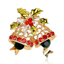 Christmas Series Jewelry KC Gold Diamond Bells In Europe And The United States Selling Styles Dan Run Wholesale