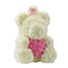 40 cm HOT Valentines Day Gift Red Rose Teddy Bear Rose Flowe