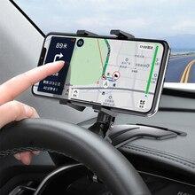 Auto Mobiele Telefoon Houder 360 Graden Zonneklep Spiegel Dashboard Mount Ondersteuning Voor Auto Grip Mobiele Telefoon Vaste Beugel