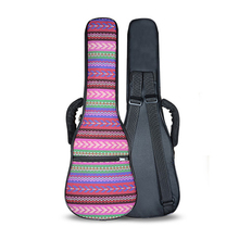 23 Inch Double Strap Hand Folk Canvas Ukulele Carry Bag Cotton Padded Case for Guitar Parts Accessories,Bohemia