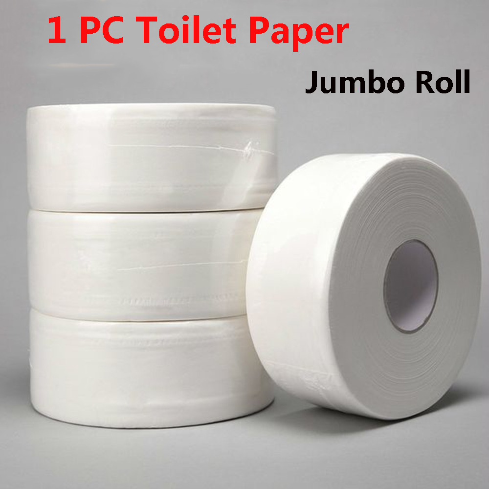 4-Ply Jumbo Roll Toilet Paper Bath Tissue Soft Native Wood Pulp 2000Ft  Skin-friendly Home White 1 Roll