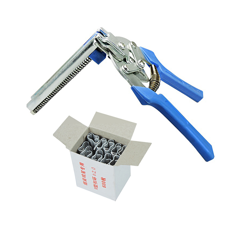 Poultry Cage Clamp Installation 600 M Nails fastening clamp Chicken Rabbit Mink Fox Bird Dog Cage clamp installation Tools