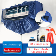AC Penutup Mencuci Cover Dinding Air Conditioner Cleaning Pelindung Tahan Air Penutup Debu WithTightening Belt(China)